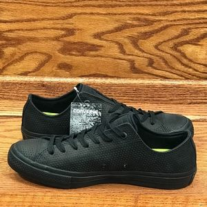 Converse CTAS II Lux Leather Low Leather Black Gum